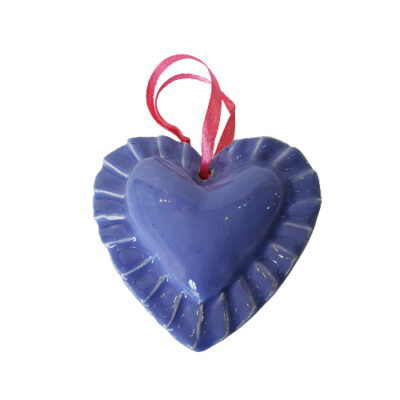 Handmade Purple Ceramic Heart