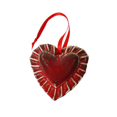 Handmade Red Ceramic Heart