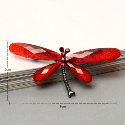Red Dragonfly Brooch