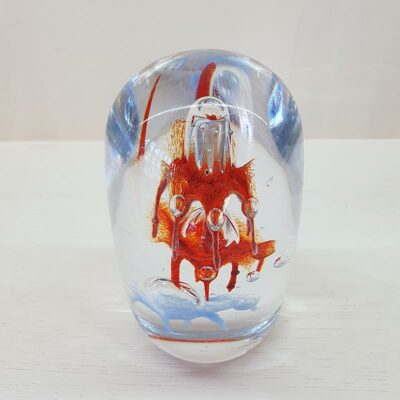 Glass Paper Weight Orange