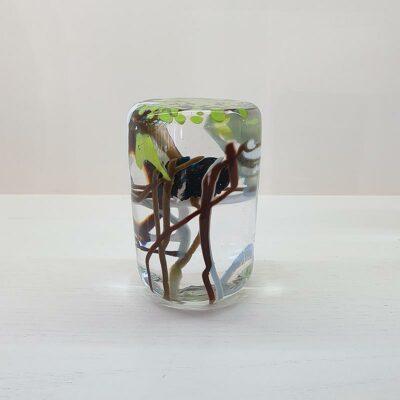 Glass Paper Weight Green